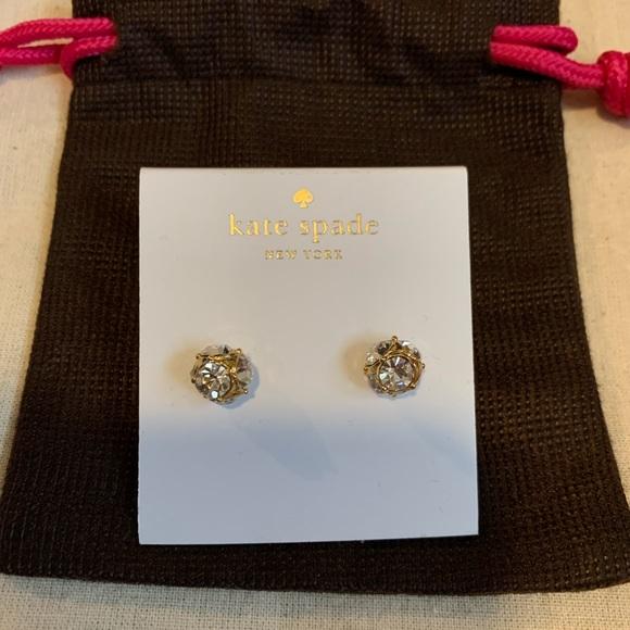 Kate Spade reversible pearl back earrings